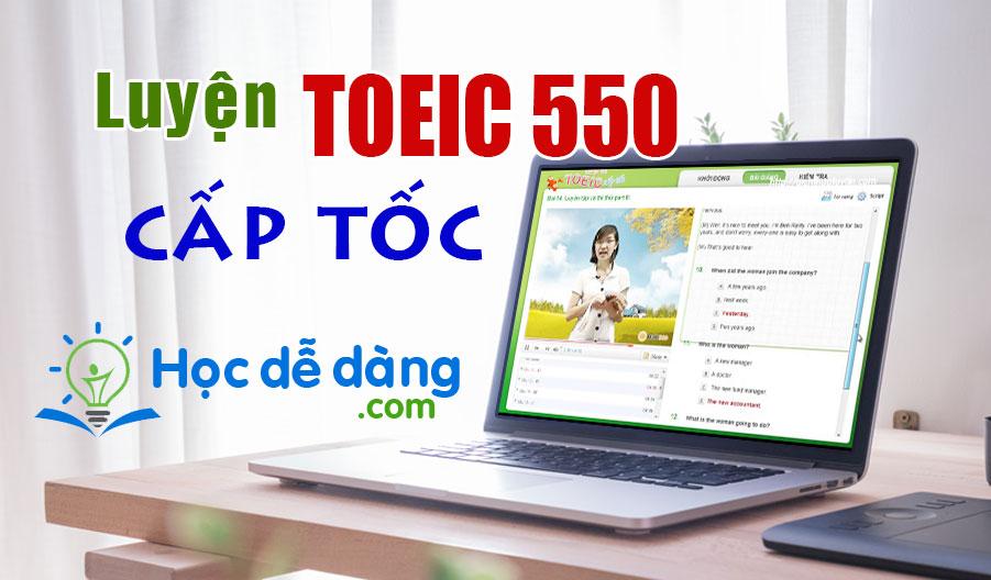 toeic cap toc 550